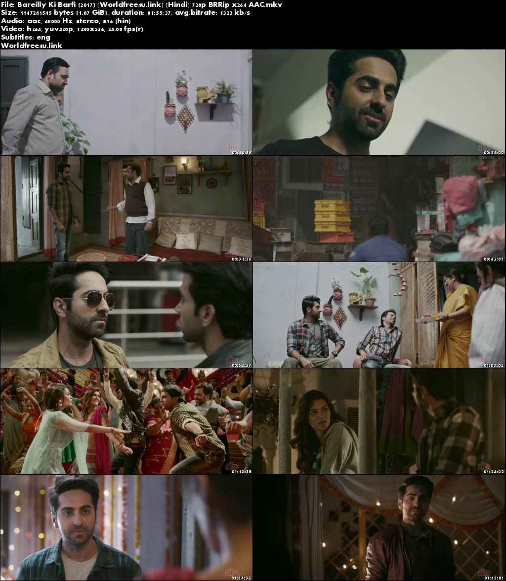 Screen Shoot of Bareilly Ki Barfi 2017 Full Hindi Movie Download BRRip 720p