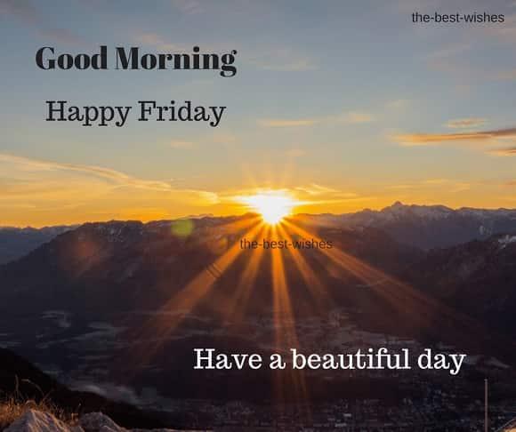 Good Morning Happy Friday with Beautiful Sunrise Images