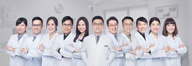 桃園瑞康牙醫診所醫師團隊形象照(配合醫師時間個別拍攝,再搭配專業平面設計師去背合成)