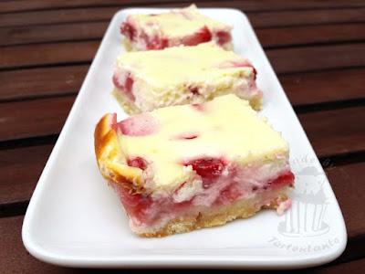 cheesecake strawberry Quarkkuchen Mürbteig