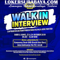 Walk In Interview di Kampoeng Steak Gresik Terbaru Oktober 2019