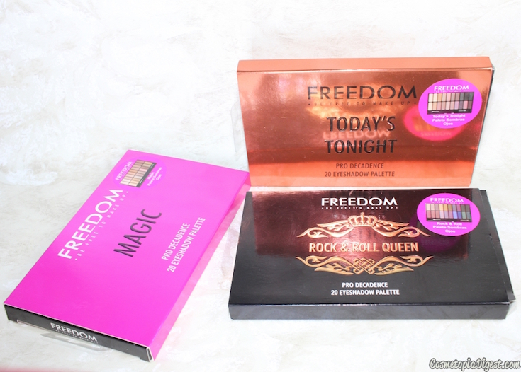 Here are the reviews and swatches of the Freedom Pro Decadence Eyeshadow Palettes, and a teal eye makeup look.