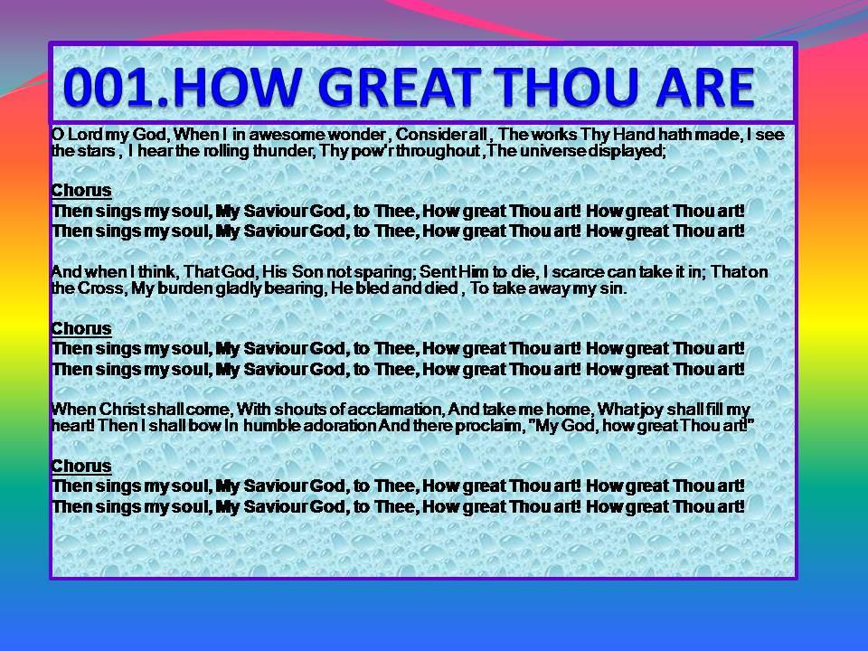 How great thou art christian songs lyrics pinterest