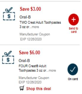 crest oral b coupons