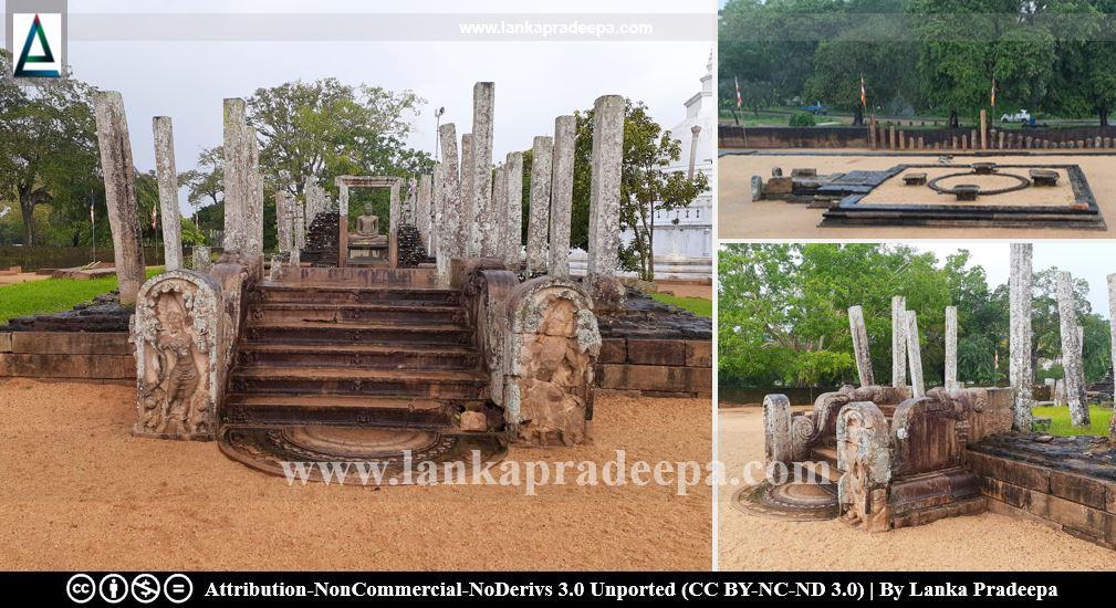 Ruined buildings around Thuparama Stupa