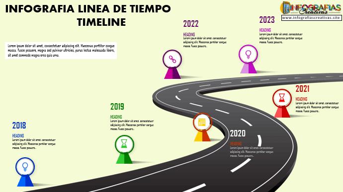 Plantilla de Timeline para Infografia 06
