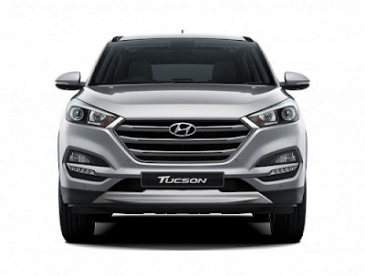 The all new Hyundai Tucson SUV Front look Image