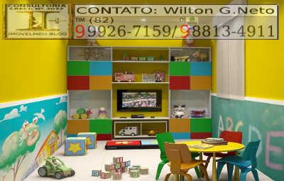 Para melhor acolher seus filhos o Res. sangeovese lhe proporciona uma ótima sala de brinquedos.
