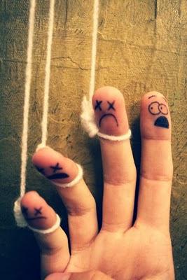 Creatividad con los dedos dibujo