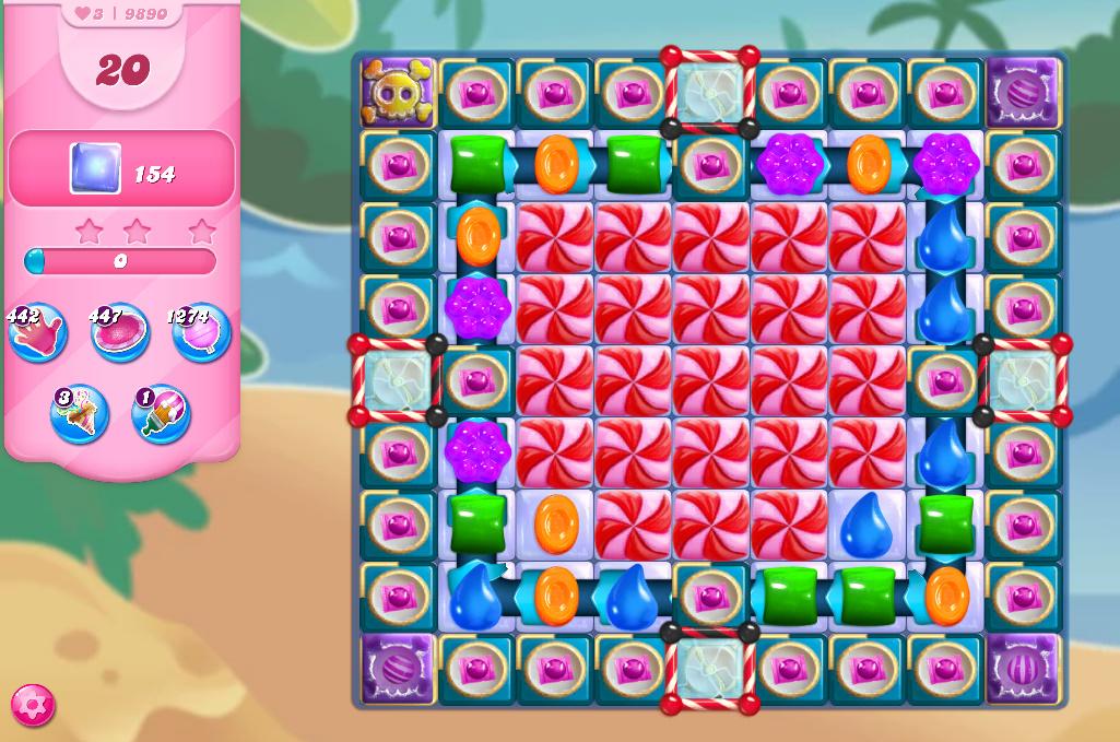 Candy Crush Saga level 9890