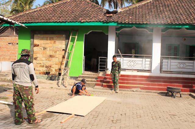 Tempat Wudhu Masjid Miftahul Janah Mulai Direhab TMMD Kodim Klaten