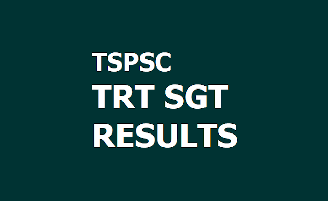 TSPSC TRT SGT English Medium Results : Provisional Selection List 2019 Released
