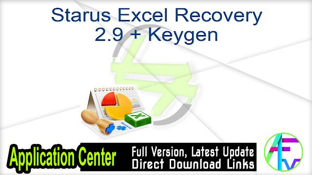 Starus Excel Recovery 2.9 + Keygen