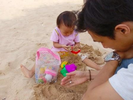 pasir di pantai nusadua bali