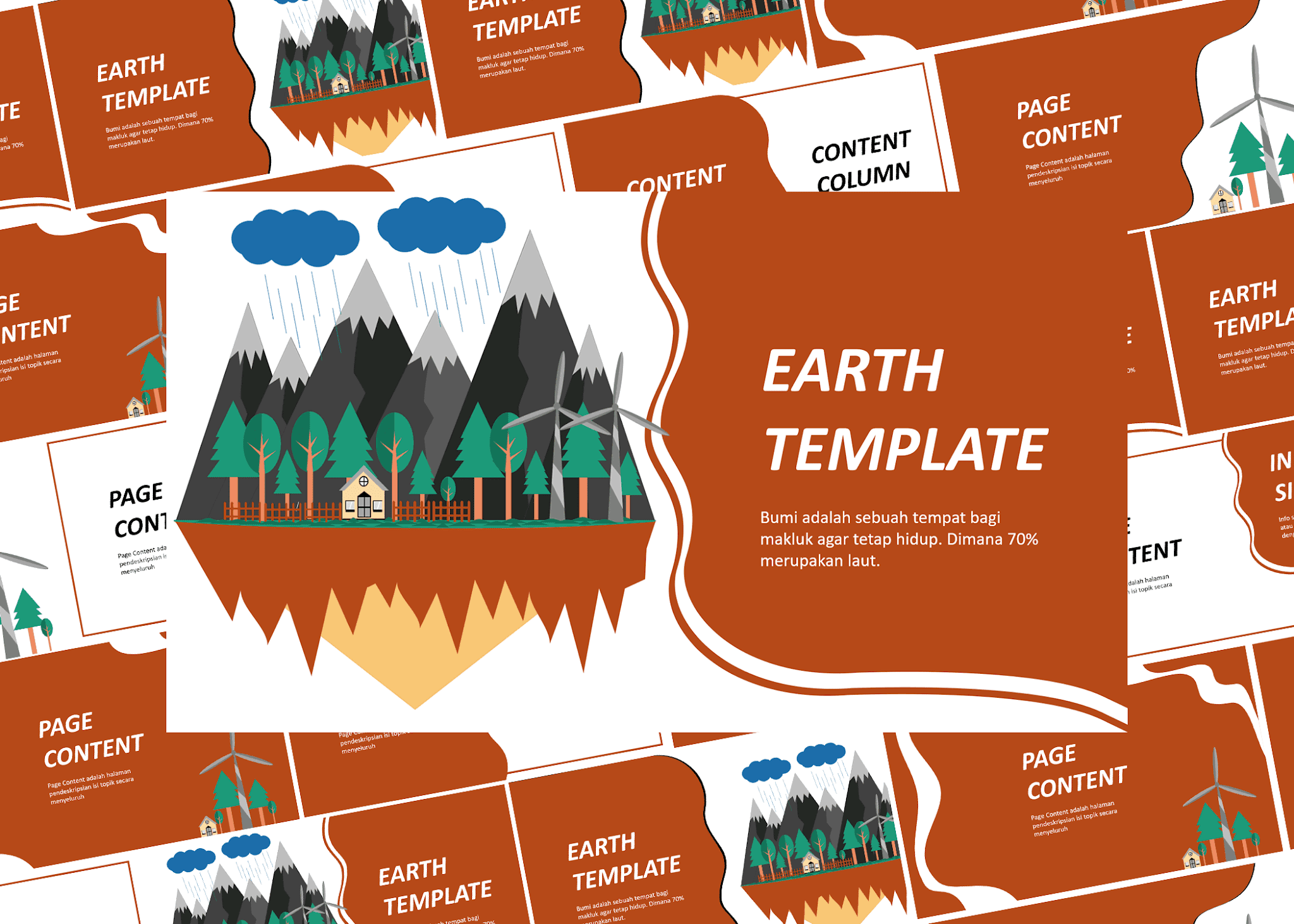 Download Gratis Earth Powerpoint Template