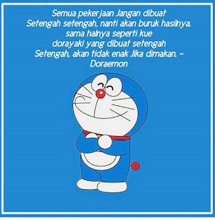75 Kata Mutiara Doraemon yang Lucu Romantis