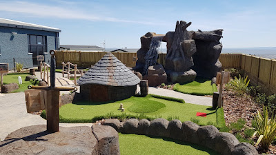 Dragon's Quest Mini Golf course at Fontygary Leisure Park in Rhoose, Barry, Wales