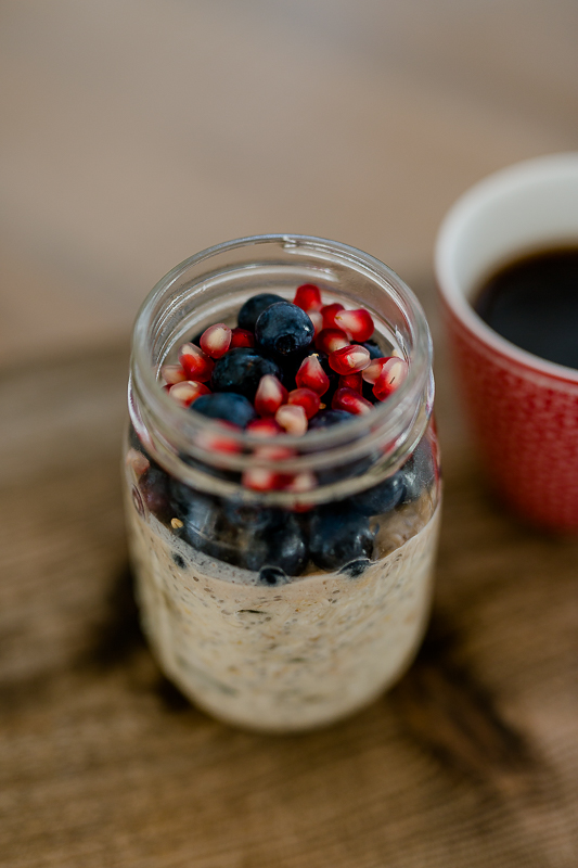 Frühstücksglück mit Lieblings- Birchermüsli, Pomponetti, Overnightoats, vegan