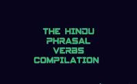 The Hindu Phrasal verbs for BANK (IBPS, SBI, RBI) EXAMS, SSC exams, Englishkendra
