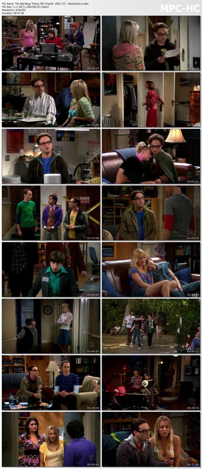 The Big Bang Theory S1 Complete English 480p WEBRip 1.1GB Desirehub