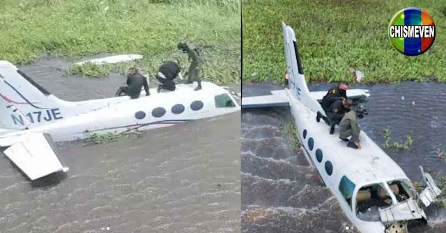 Avioneta robada en la República dominicana se estrelló en el Lago de Maracaibo