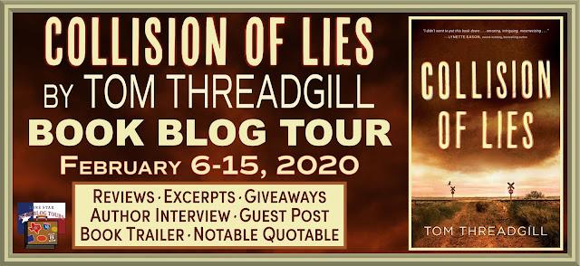 Collision of Lies book blog tour promotion banner