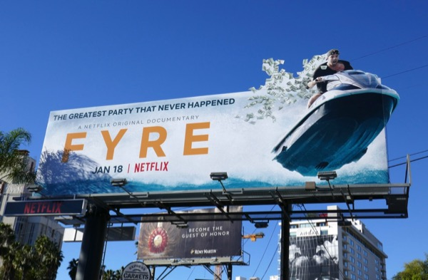 Fyre documentary jet ski billboard