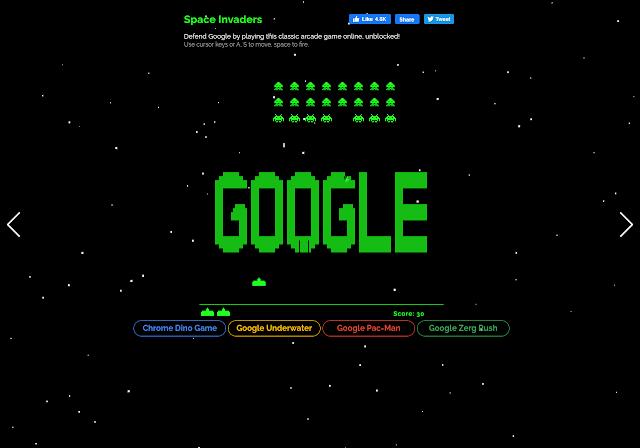 تأثير كلمة elgoog space invaders في محرك البحث جوجل