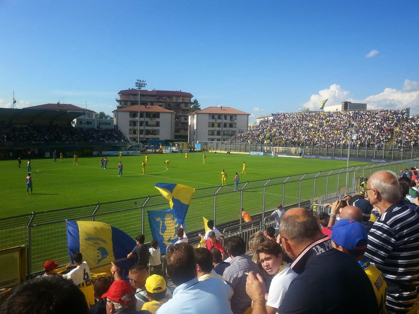"""Tutto pronto per il calcio d'inizio al """"Matusa"""" di Frosinone. fotosportnotizie.com"""