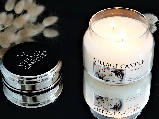 bougie parfumée à la noix de coco, bougie noix de coco, snoconut village candle, avis bougie