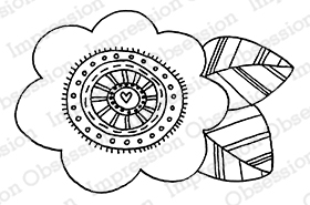 Rainbow Flower stamp from Impression Obsession