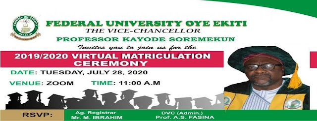 FUOYE Online Matriculation Ceremony Date 2019/2020 [UPDATED]