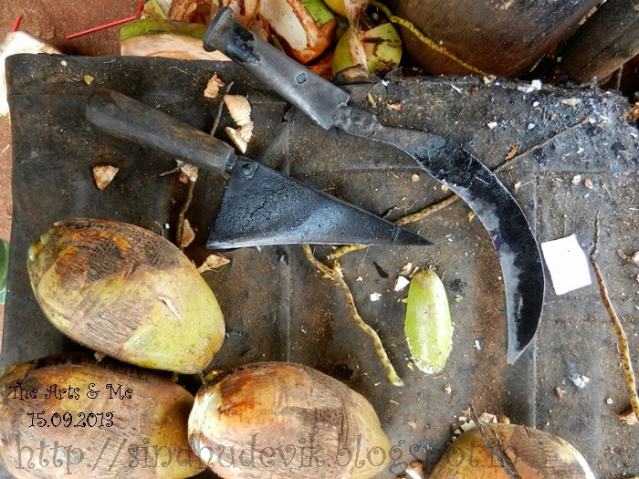 Knives to Cut Open Tender Coconuts