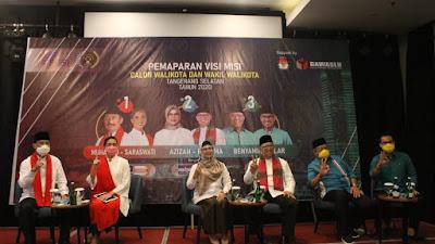 Paslon Walikota dan Wakil Walikota Tangerang Selatan Ikuti Pemaparan Visi Misi