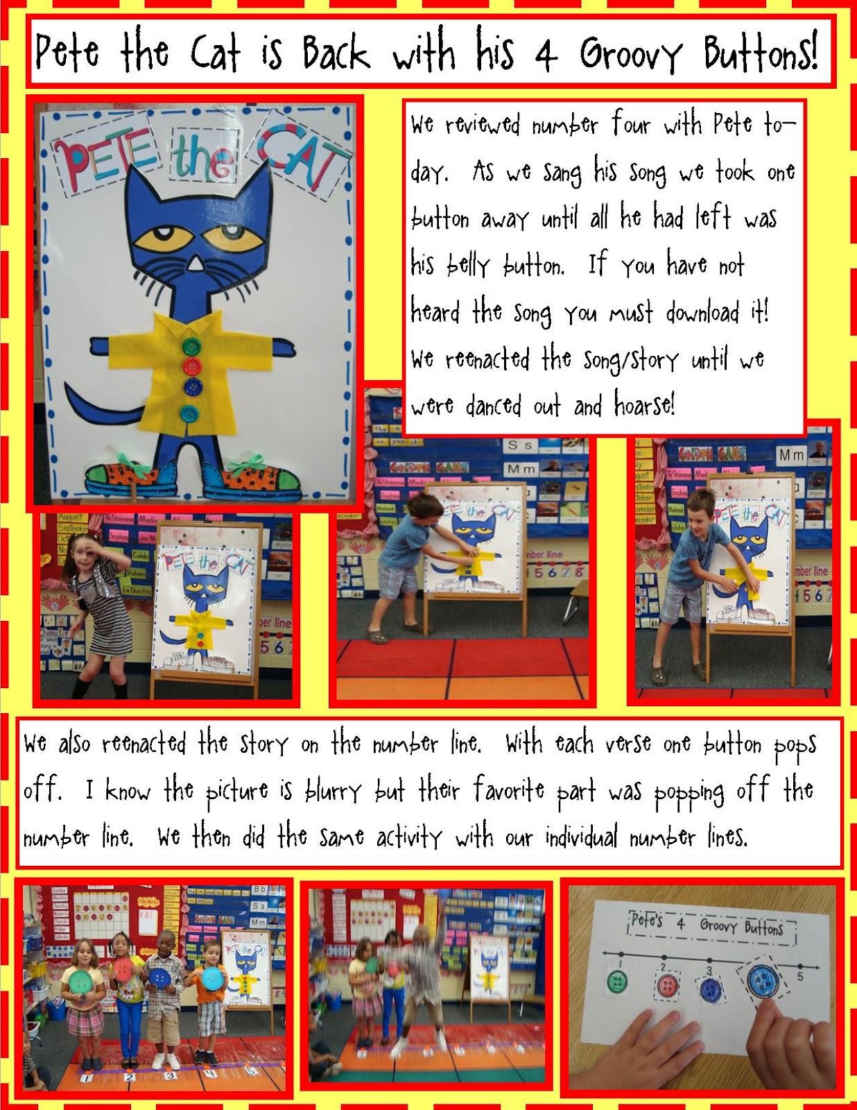 Golden Gang Kindergarten Pete The Cat Is Back With His 4