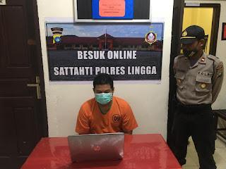 Cegah Covid-19, Polres Lingga Terapkan Besuk Tahanan Online