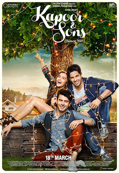 Poster Of Kapoor And Sons 2016 720p Hindi BRRip Full Movie Download
