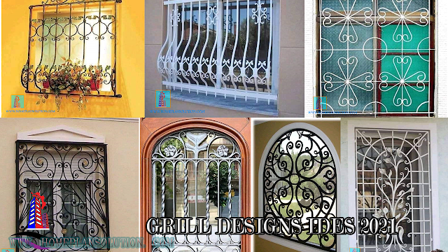 Simple window grill design 2020