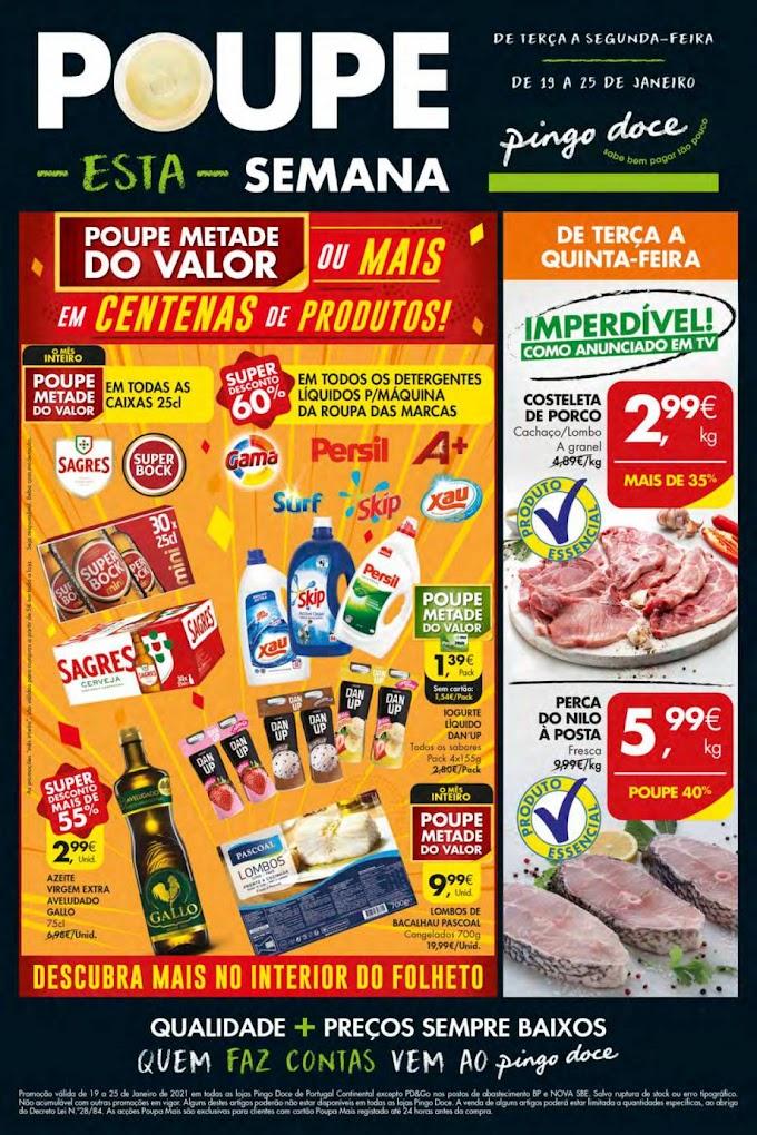 Folheto Semanal Pingo Doce - Poupe esta semana! - de 19 a 25 de Janeiro de 2021