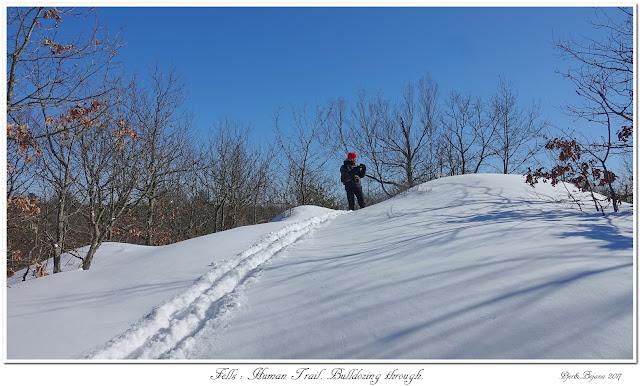 Fells: Human Trail. Bulldozing through.