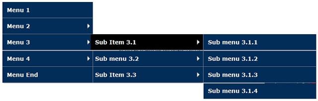 Drop menu - Thủ thuật tạo menu dọc xổ ngang cho blogspot