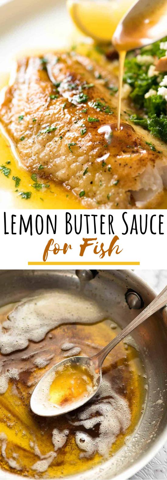 Lemon Butter Sauce for Fish #dinner #sauce
