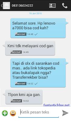 SMS Olx Penipu