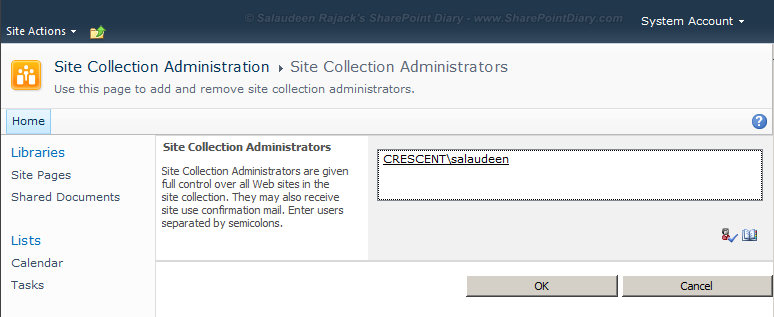remove site collection administrator powershell