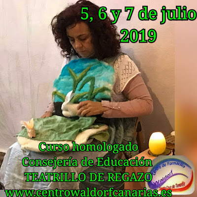 Curso de elaboración  de Teatrillo de regazo 2019 Waldorf en Tenerife