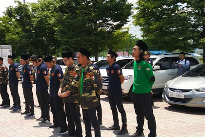 Halal bi Halal & Milad ke-12 Gyeongju Brothers (2):  Dikawal Banser Korea Selatan