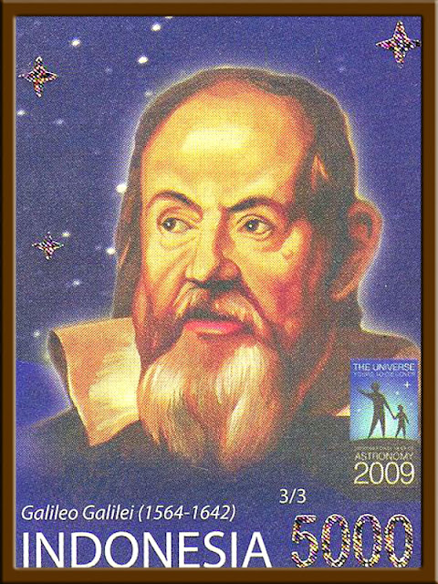 Foto Prangko peringatan Tahun Astronomi Internasional Galileo