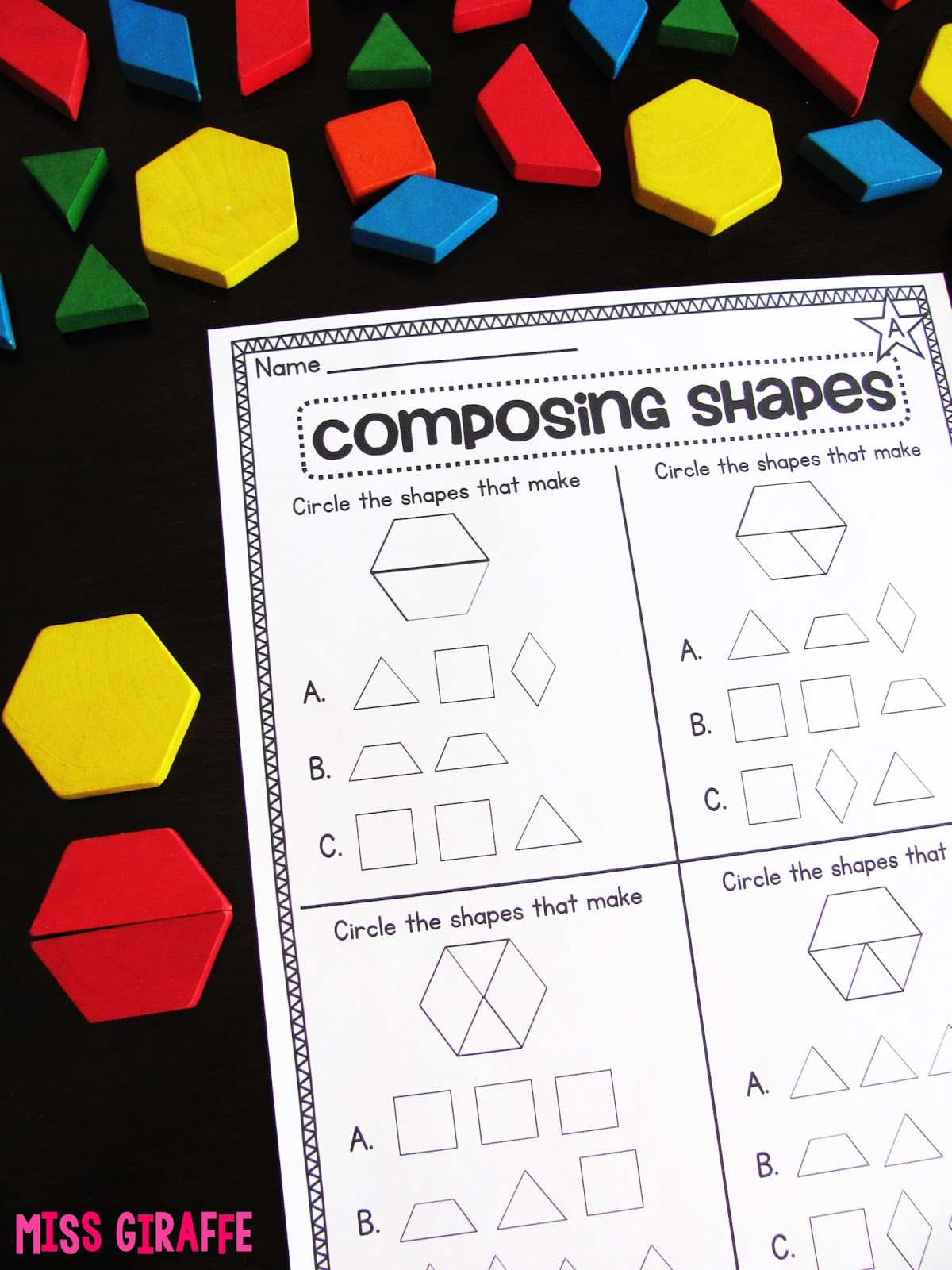 Miss Giraffe S Class Composing Shapes In 1st Grade