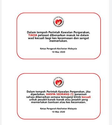 Situasi Semasa Jangkitan Penyakit Coronavirus 2019 (Covid19) Di Malaysia : DI bawah adalah teks ucapan oleh Menteri Kesihatan Malaysia yang baru di lantik oleh YAB Perdana Menteri Malaysia Ke-8. Malaysia tidak terkecuali daripada serangan COVID 19 yang sedang melanda seluruh dunia sehingga hari ini. STATUS TERKINI KES DISAHKAN COVID-19 YANG TELAH PULIH  Kementerian Kesihatan Malaysia (KKM) ingin memaklumkan bahawa terdapat 11 kes yang telah pulih dan dibenarkan discaj pada hari ini. Ini menjadikan jumlah kumulatif kes yang telah pulih sepenuhnya dari COVID-19 dan telah discaj daripada wad adalah sebanyak 60 kes.  STATUS TERKINI KES COVID-19 DI MALAYSIA  Sehingga 18 Mac 2020 pukul 12 tengah hari, terdapat 117 kes baharu yang telah dilaporkan. Ini menjadikan jumlah kes positif COVID-19 di Malaysia adalah sebanyak 790 kes. Berdasarkan siasatan awal, daripada 117 kes baharu yang dilaporkan hari ini, sebanyak 80 kes adalah berkaitan dengan kluster perhimpunan tabligh di Masjid Jamek Seri Petaling. Situasi Semasa Jangkitan Penyakit Coronavirus 2019 (Covid19) Di Malaysia  Sehingga kini, seramai 15 kes positif COVID-19 sedang dirawat di Unit Rawatan Rapi (ICU) dan memerlukan bantuan pernafasan.  Berikutan pengumuman Perintah Kawalan Pergerakan yang telah dibuat oleh YAB Perdana Menteri pada 16 Mac 2020, satu warta telah dikeluarkan [P.U.(A) 87 bertarikh 17 Mac 2020] memaklumkan semua negeri dan Wilayah Persekutuan di Malaysia telah diwartakan sebagai kawasan tempatan jangkitan. Ia selaras dengan peruntukan di bawah Seksyen 11 Akta Pencegahan dan Kawalan Penyakit Berjangkit 1988 (Akta 342).  Sehubungan dengan itu juga, Peraturan-Peraturan Pencegahan dan Pengawalan Penyakit Berjangkit (Langkah-langkah Di Dalam Kawasan Tempatan Jangkitan) 2020 telah digubal dan diwartakan [P.U. (A) 91 bertarikh 18 Mac 2020]. Peraturan ini menjelaskan perkara-perkara yang perlu diambil perhatian dan tindakan oleh orang awam berkaitan dengan Perintah Kawalan Pergerakan bagi membendung penularan 