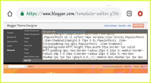 Cara Membuat Dan Modifikasi Tampilan Widget Popular Post Menjadi Keren Dan Menarik Santos Blog